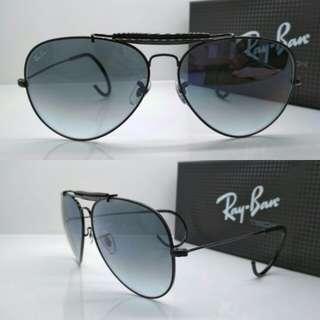 Kacamata Rayban aviator gading rb3030