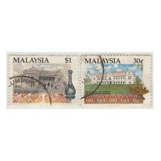 Malaysia 1991 Centenary of Sarawak Museum set of 2V used SG #469 & 470 (slight toning) (0292)
