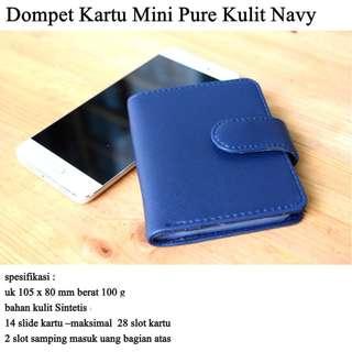 Dompet Mini Kartu Pure biru navy