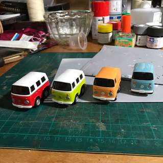 Volkswagen Choro-Q mini bus vintage colours