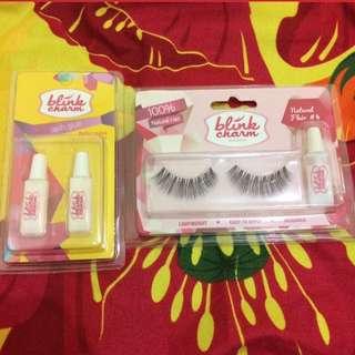 Blink Charm False Lashes Natural Flare #4 and lash glue
