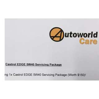Car Servicing Package - Castrol Edge 5W40