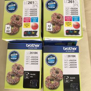 Brand new BROTHER LC261 ink cartridge set