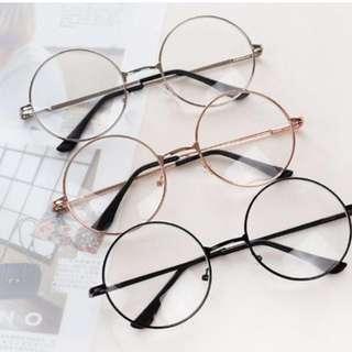 (No Stocks) Ulzzang Black/RoseGold/Grey/Silver Glasses (PO)