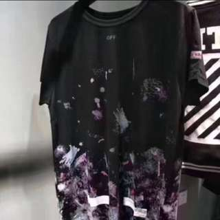Size M Off-White Inspired Purple Print Tee