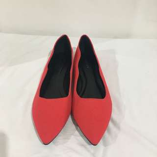 Red Pointy Doll Shoes