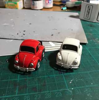 Choro-Q Volkswagen beetle zero series Red and White