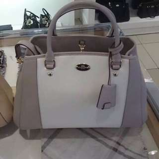 Brand New Coach Bi-color Leather Carryall