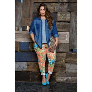 Plus Size Floral Jegging #CNY88