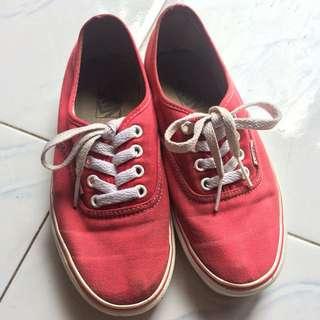 Vans auth red original