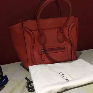 Celine mini luggage with dustbag and cards
