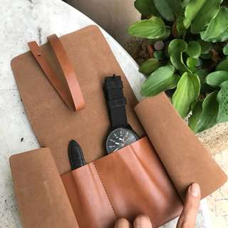 Fossil Leather Watch Pouch