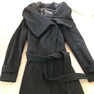 Zara wool wrap coat