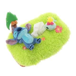日本 Disney Store 直送 Stitch & Scrump 史迪仔與甘仔紙巾盒 - 瞓草地款
