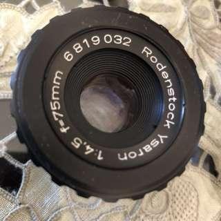 Rodenstock Ysaron f/4.5 75mm Enlarger Lens 放大頭