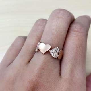 18K玫瑰金鑽石介子💍