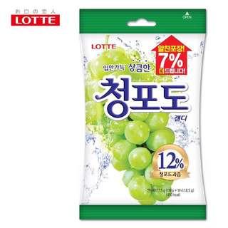 現貨│LOTTE 樂天 青葡萄糖-效期2018.11.20