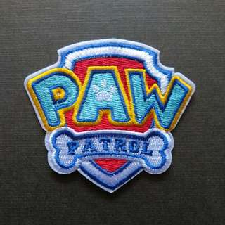 Paw Patrol Logo Dog Iron On Patch