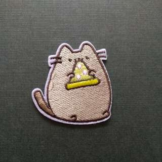Pizza Cat Iron On Patch