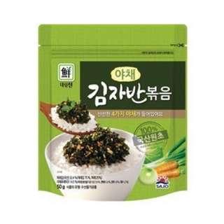 現貨│SAJO海苔酥(蔬菜) 韓國 思潮 海苔鬆 炒海苔 伴飯 韓式海苔-效期2018.12.05