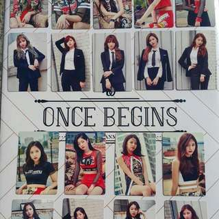[SET]Twice Once Begin Photocard