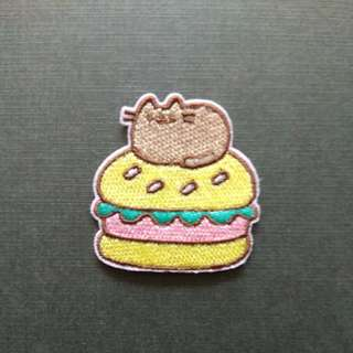Cat Burger Cute Iron On Patch