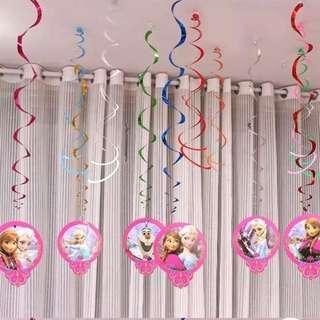 ❄️ Frozen party supplies - Frozen Spiral deco / party deco
