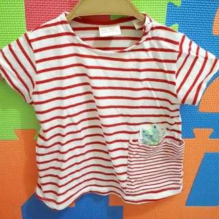 Stripes tshirt with side pocket