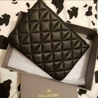 🈹(正品)MULBERRY POUCH 黑色小手包