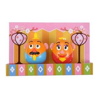 日本 Disney Store 直送 Toy Story 反斗奇兵薯蛋頭先生太太不倒翁賀年擺設