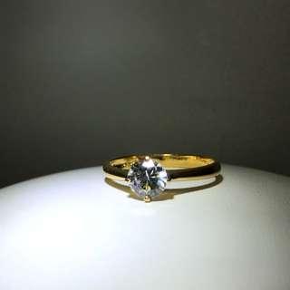 22K Yellow Gold Russian Diamond Ring - DBR916R025