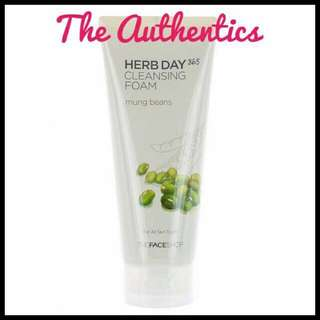 The Face Shop Herb Day 365 Cleansing Foam(MUNG BEANS)
