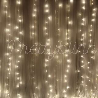 [RENTAL] Tulle Fairylight Backdrop💕💕✨