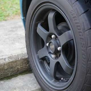15 inch Rims 4x100 with Re003