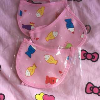 Cute pink Baby Bibs with fish designs