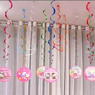 🌈 Hello Kitty party supplies - Spiral deco / party deco