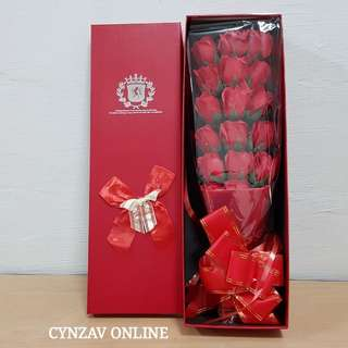 BN 18 Soap Roses Bouquet Giftbox