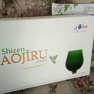 Minuman kesehatan teh hijau shizen aojiru