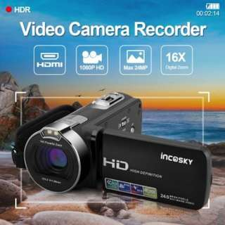 """Incosky 1080P 2.7"""" TFT LCD FHD 24MP Digital Video Camera 16x Zoom Camcorder DV"""