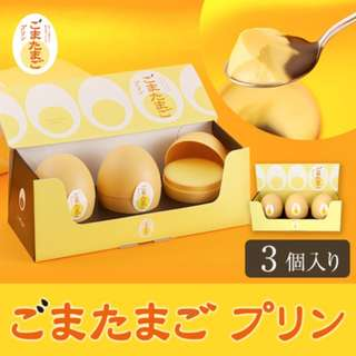 日本直送 東京手信 原味香滑雞蛋黑芝麻布甸 3個入 賀年禮盒