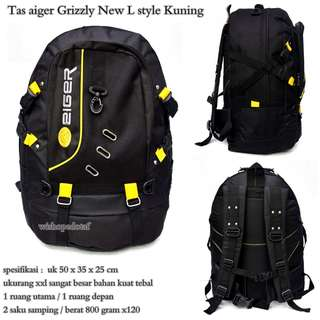 Tas Ransel Besar Aiger Grizzly New L style kuning