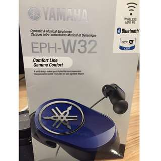 Yamaha bluetooth earphones EPH-W32 * Brand new unopened.