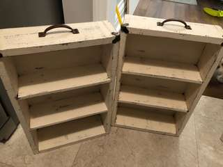 2 rustic shelf's