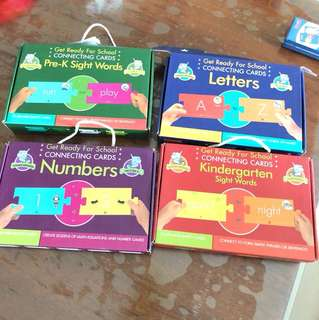 Kids educational Cards Games connecting cards