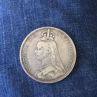 Great Britain UK 1887 Victoria Silver crown