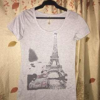 Gray Paris Round Neck Shirt