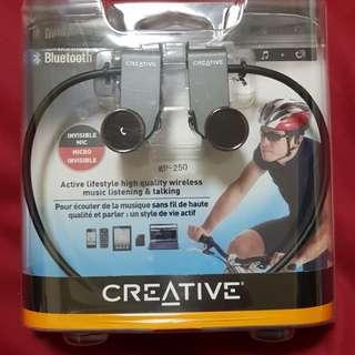 Creative bluetooth earphone with Mic