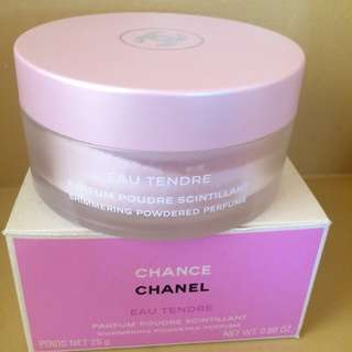 Chanel Eau Tendre shimmering powdered perfume