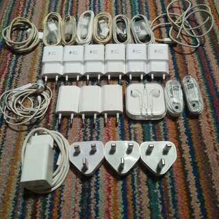 Acc Charger Headset Ori Iphone/Samsung/Oppo