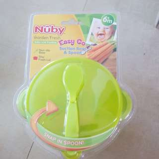 Nuby easy go suction bowl and spoon